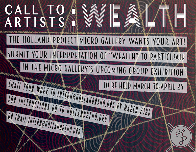 "CALL FOR ARTISTS: ""WEALTH"""