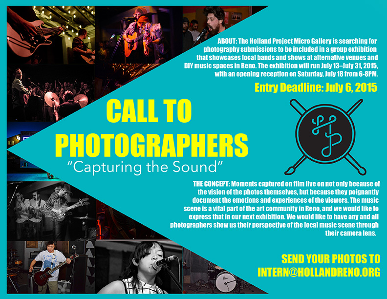 CALL TO PHOTOGRAPHERS – CAPTURING THE SOUND