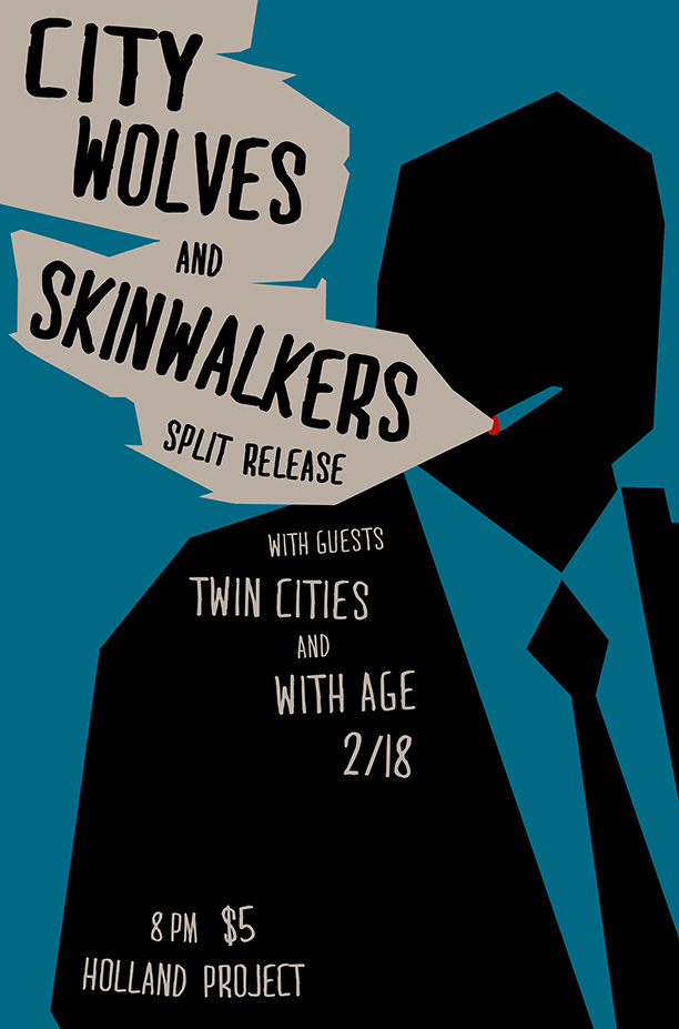 With Age, Twin Cities, Skinwalkers + City Wolves (Split Release Show)