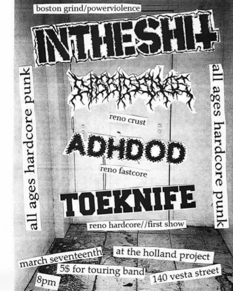 Intheshit, Dissidence, ADHDOD, Toeknife