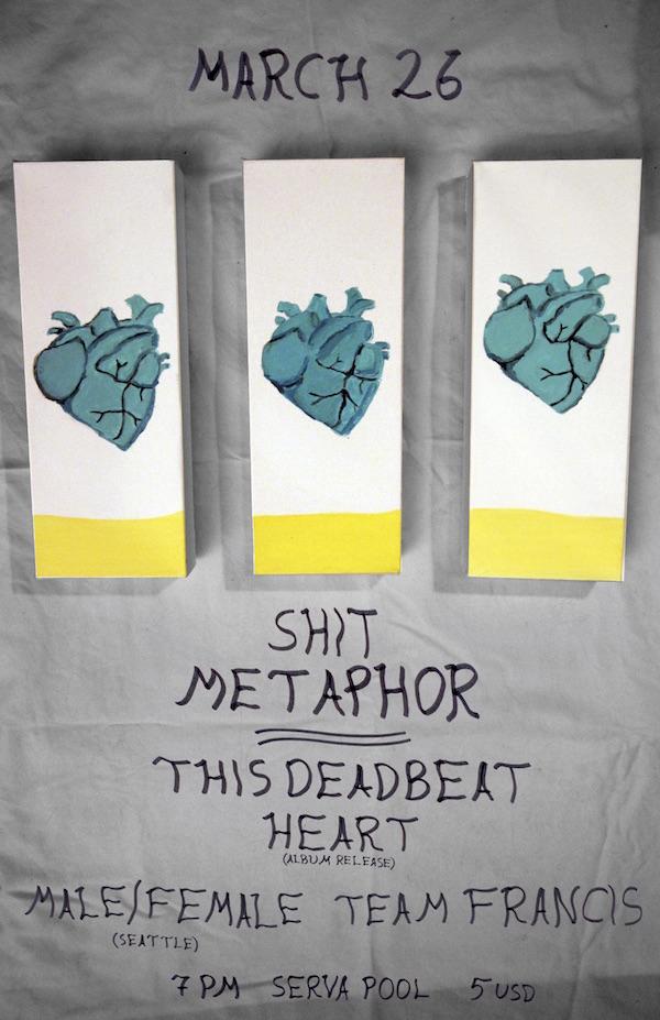 SERVA POOL: Shit Metaphor – This Deadbeat Heart (Album Release), Male/Female, Team Francis