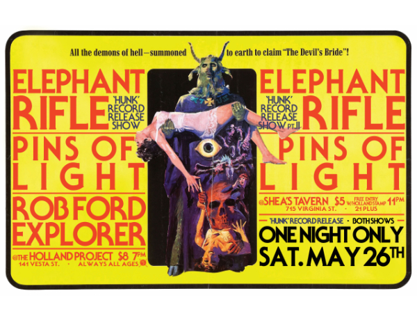Elephant Rifle Record Release w/ Pins of Light, Rob Ford Explorer