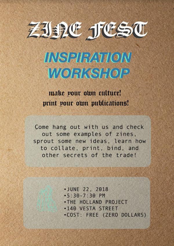 Free Zine Inspiration Workshop