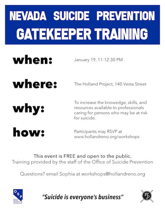 Nevada Suicide Prevention Gatekeeper Training