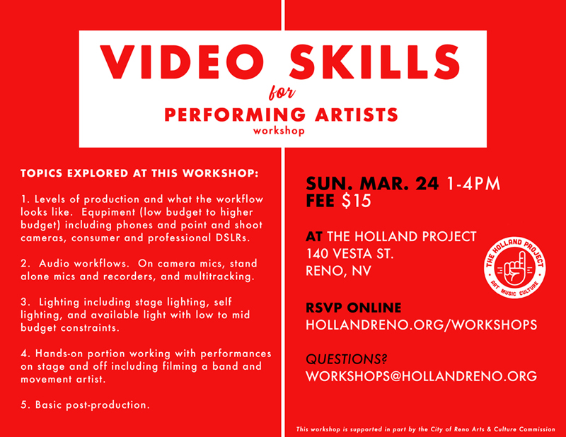 Video Skills for Performing Artists