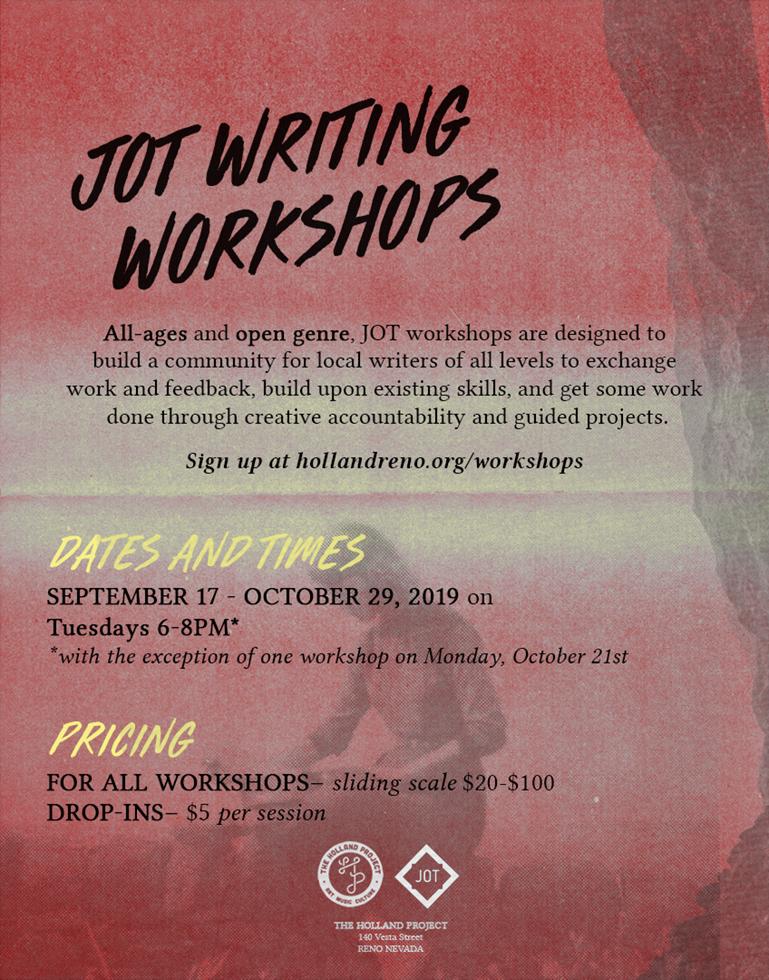 JOT Writing Workshop Series