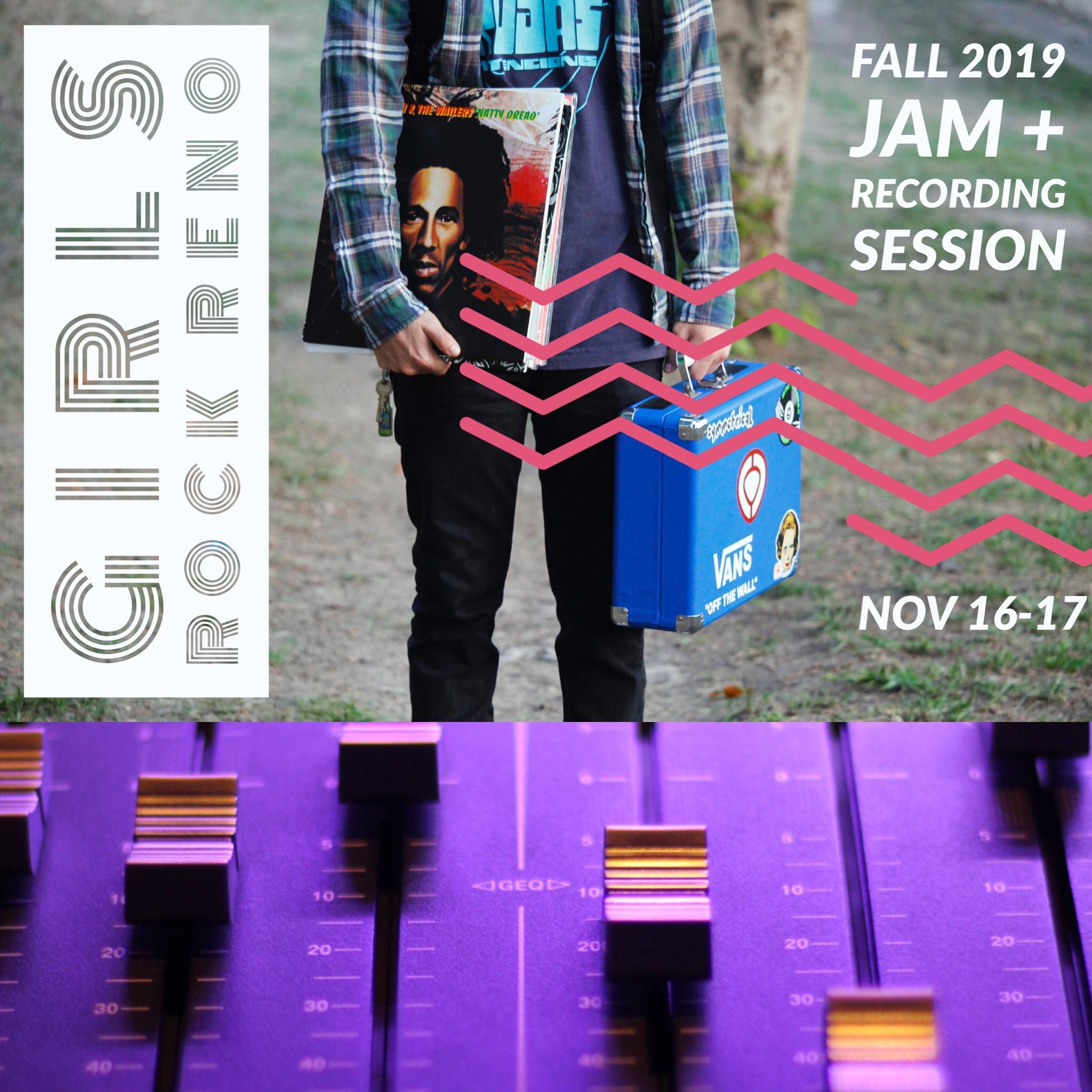 Girls Rock Reno – Fall Jam + Recording Session (2 day workshop)
