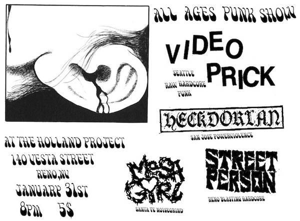 Video Prick, Street Person, Heckdorian, Mesa Girl