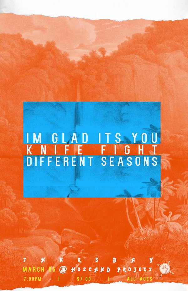 I'm Glad it's You, Knife Fight, Different Seasons (solo)