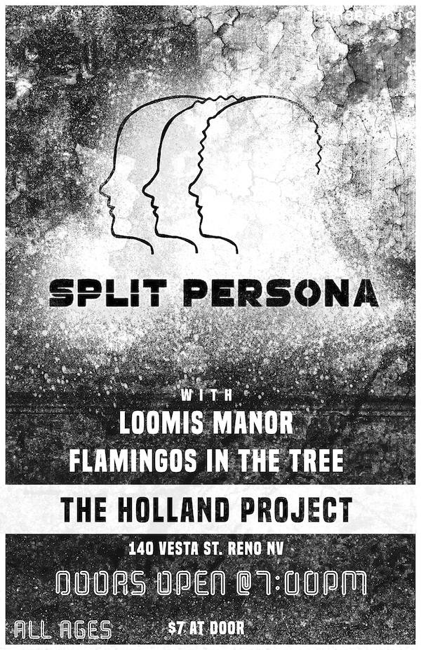 Split Persona EP Release, Loomis Manor, Flamingos in the Tree