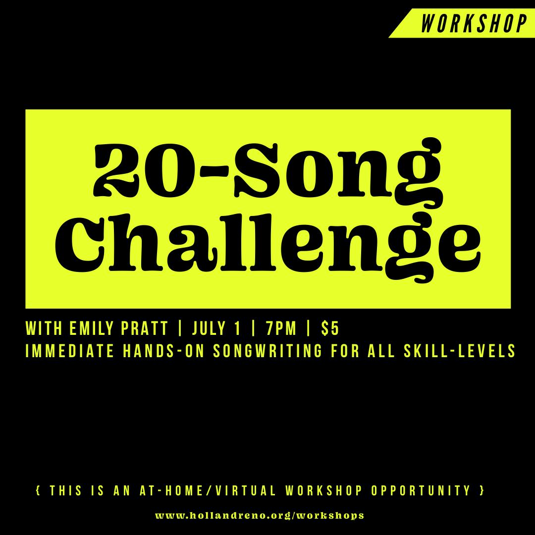 20-Song Challenge Workshop with Emily Pratt