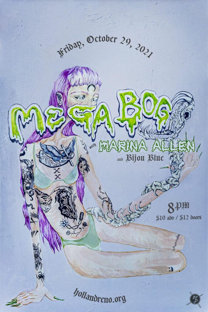Mega Bog, Marina Allen, Bijou Blue